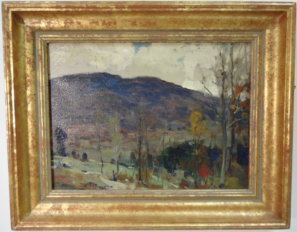 Landscape w/Trees+Mountains- Chauncey Ryder- O/C
