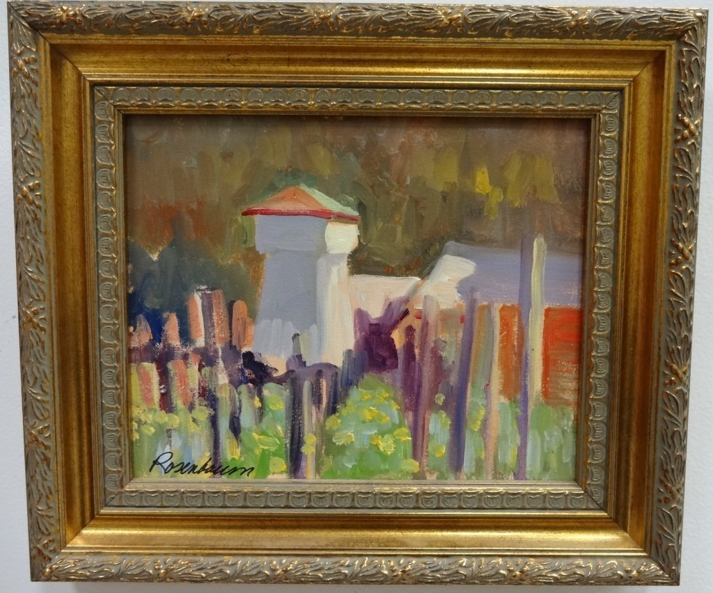 "Impressionist Landscape- ""Rosenbaum""- Oil/Canvas"
