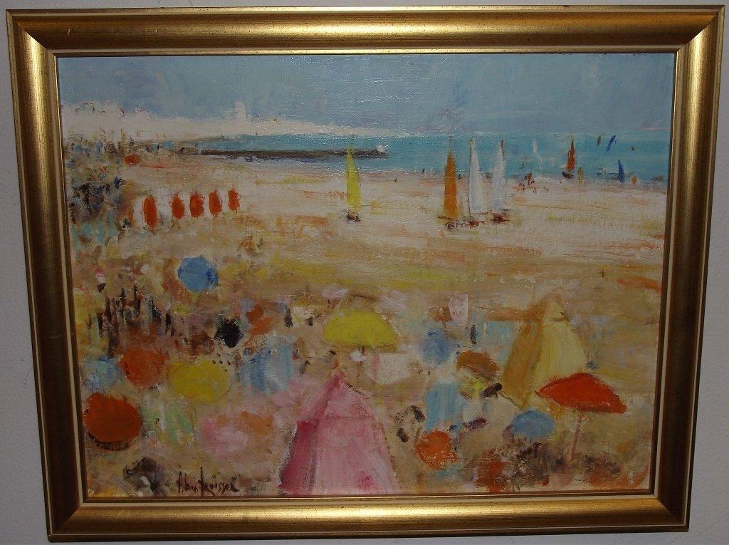 Beach Scene- Alain Rousseau- Oil on Canvas