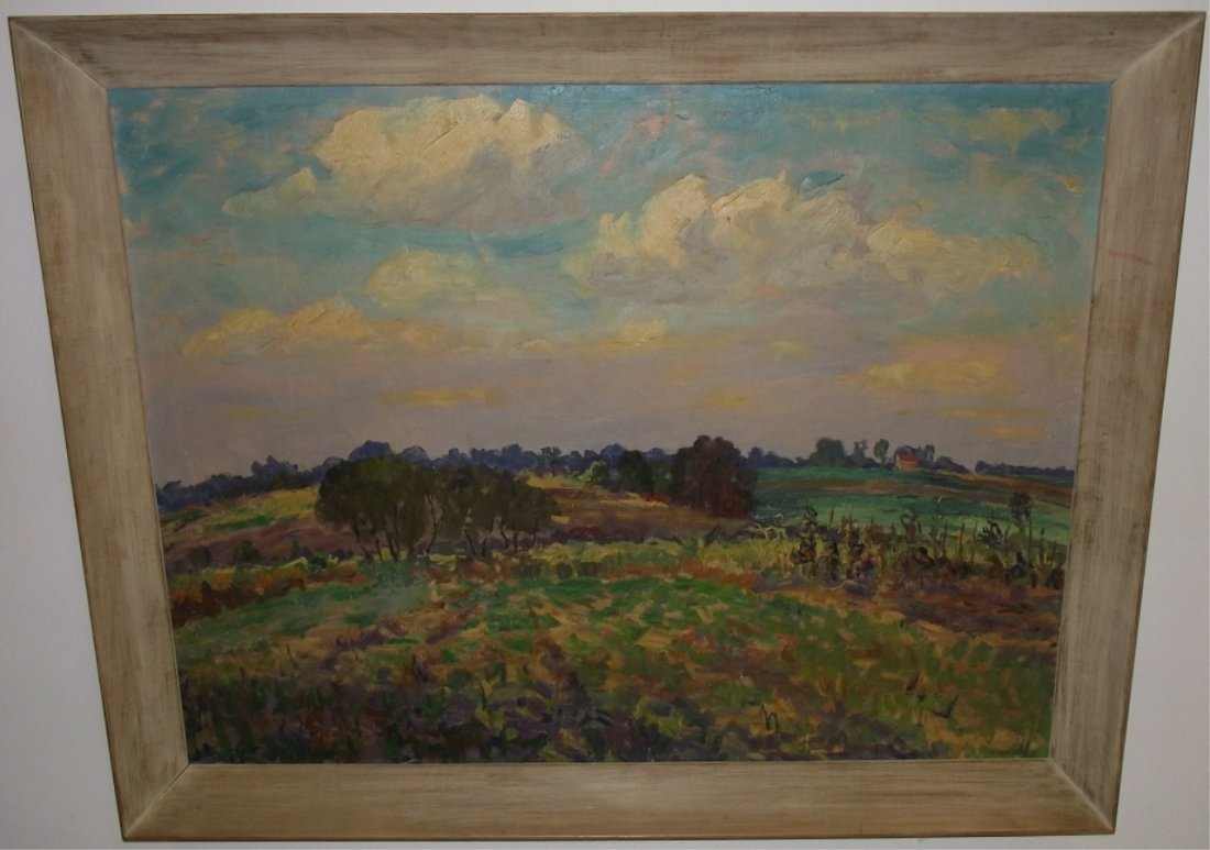 Landscape by Hugh Campbell- Oil on Canvas