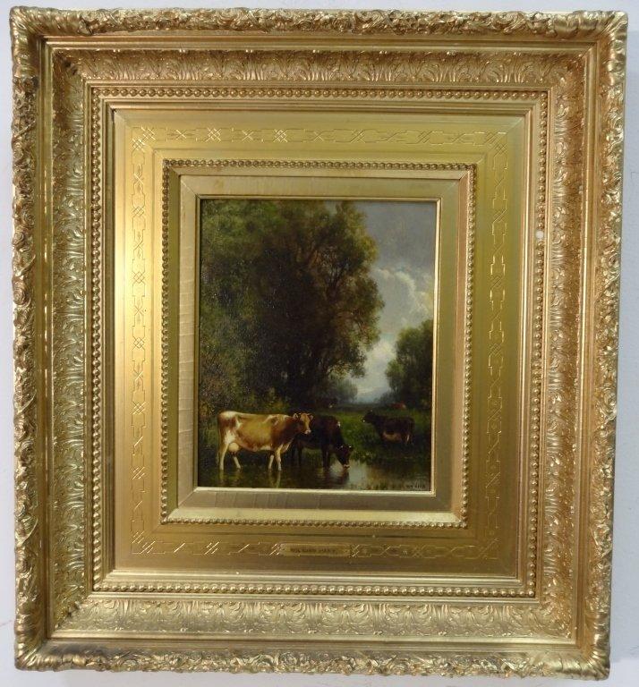 William Hart- Marsh Scene with Cattle- Oil/Canvas