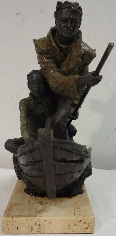 J. M. Lafuente Bronze Sculpture of Boaters