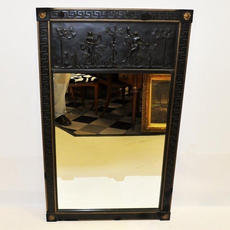 Antique Greek Revival Mirror with Plaster Frame