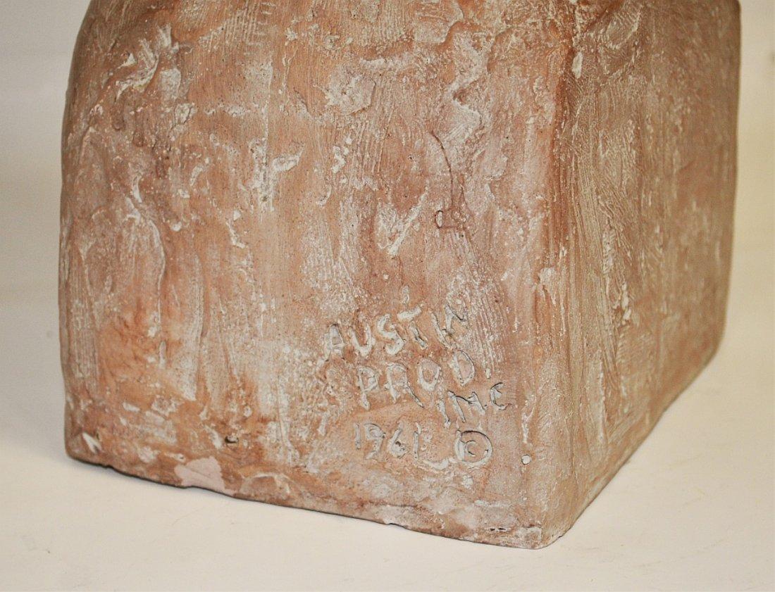 Austin Prod Mid-Century Sculpture- Bust of Woman - 3