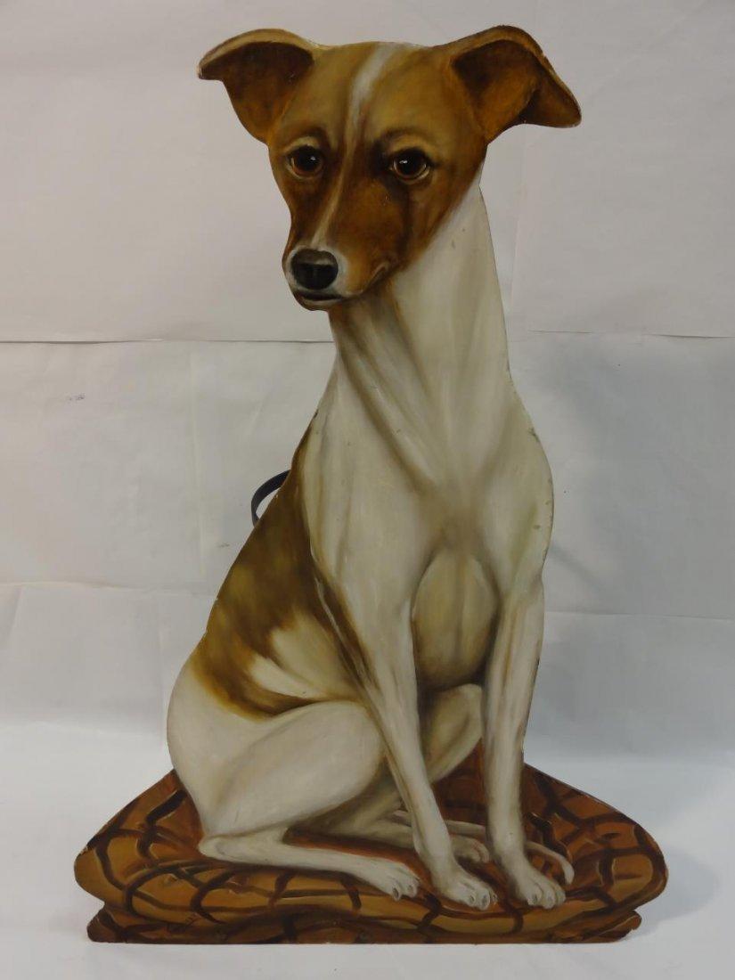 Vintage Cast Iron Umbrella Stand with Dog Motif