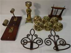 Lot of 12 Assorted Items inc Sconces & Brass