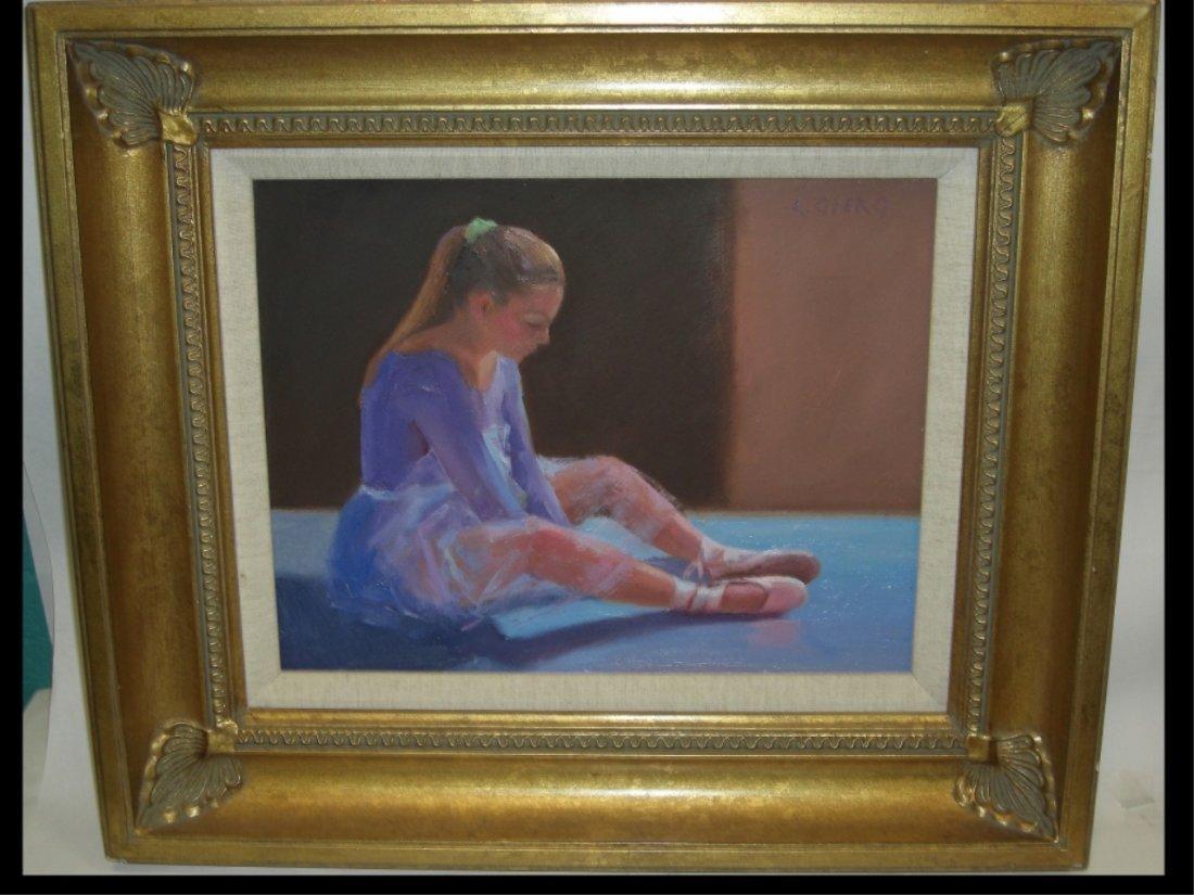 Portrait of Young Ballerina/L. Otero/Oil on Canvas