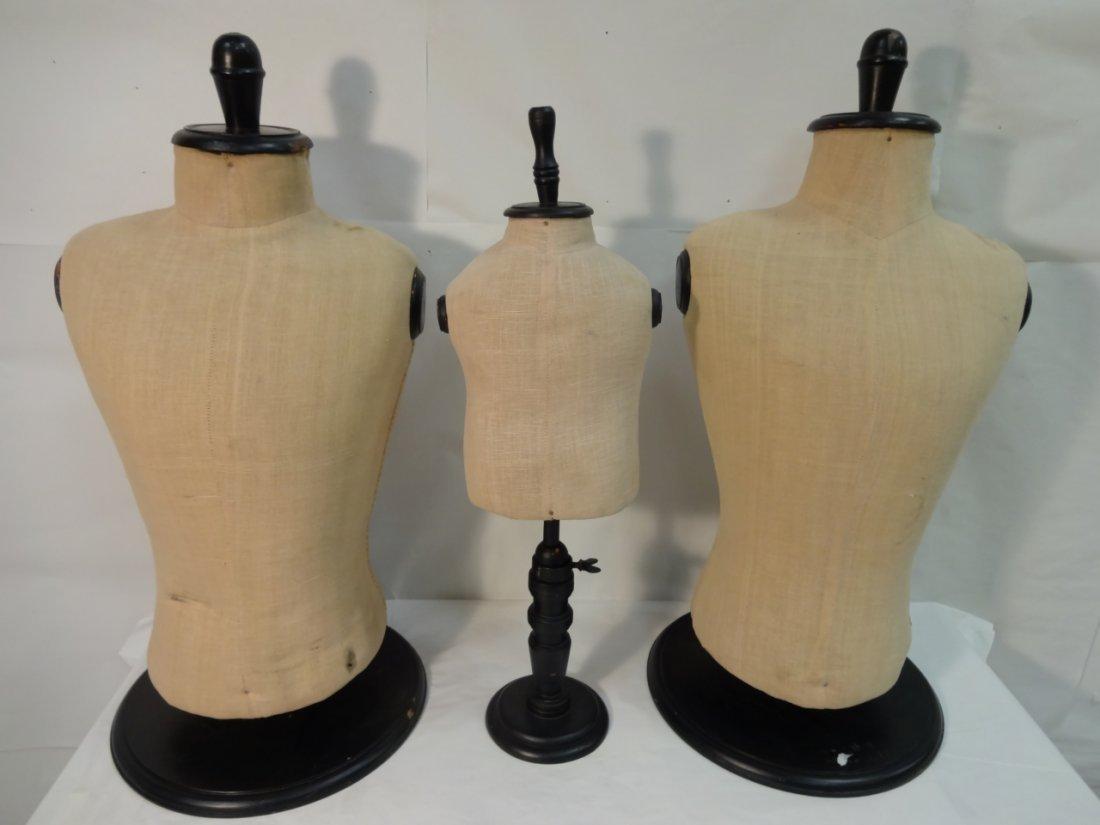 Lot of 3 Vintage Torso Mannequins