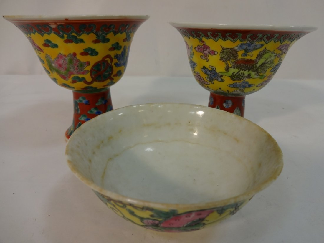 Lot of 3 Chinese Porcelain Serving Pieces
