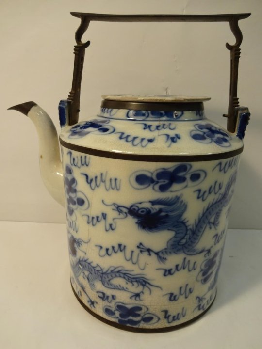 18th Century Chinese Teapot with Bronze Fittings