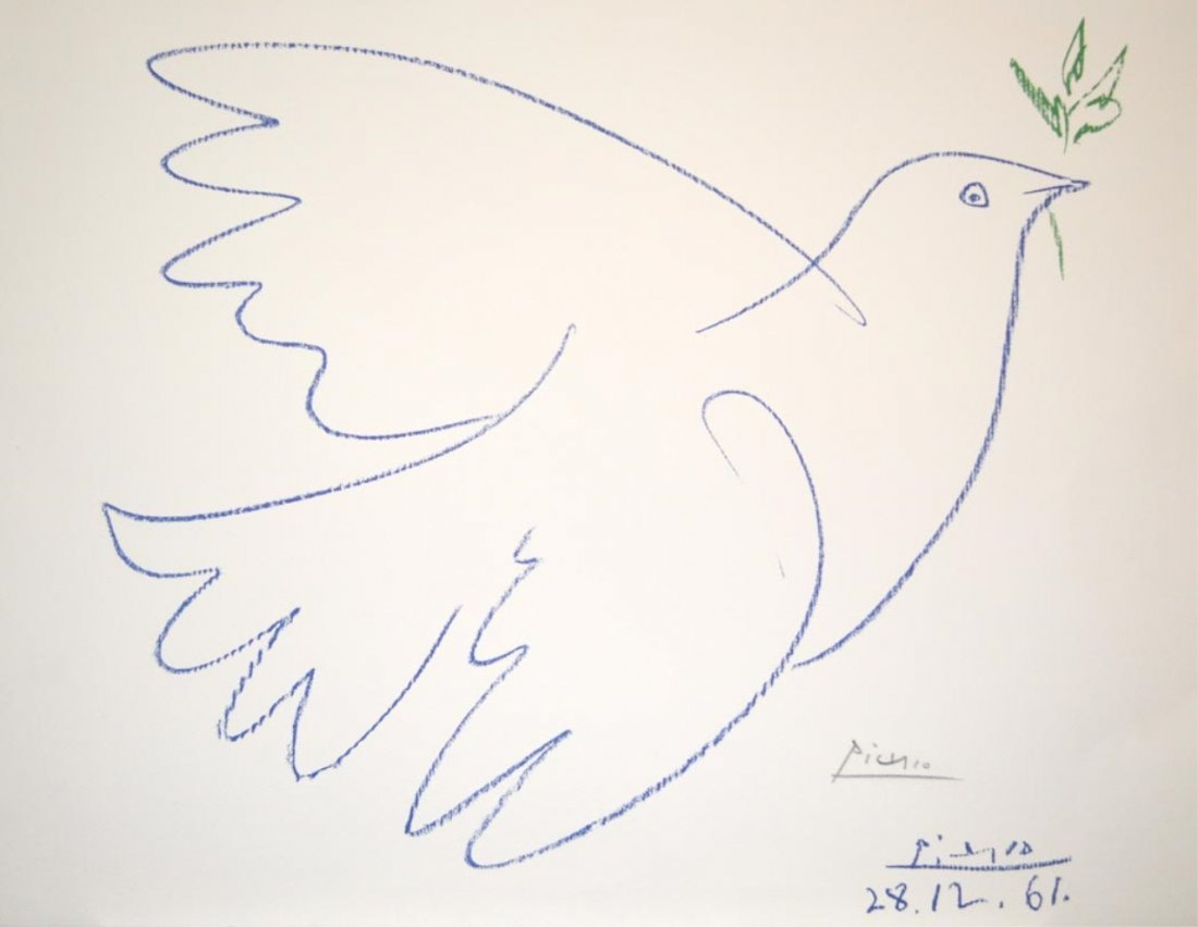 """Pablo Picasso/""""Dove of Peace""""/Signed Lithograph"""