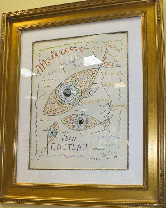 """Jean Cocteau- """"Self Portrait""""- Mourlot Lithograph"""