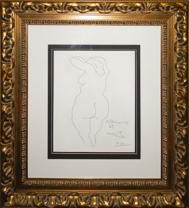 Pablo Picasso/Nude Woman Facing Back/S'd Etching