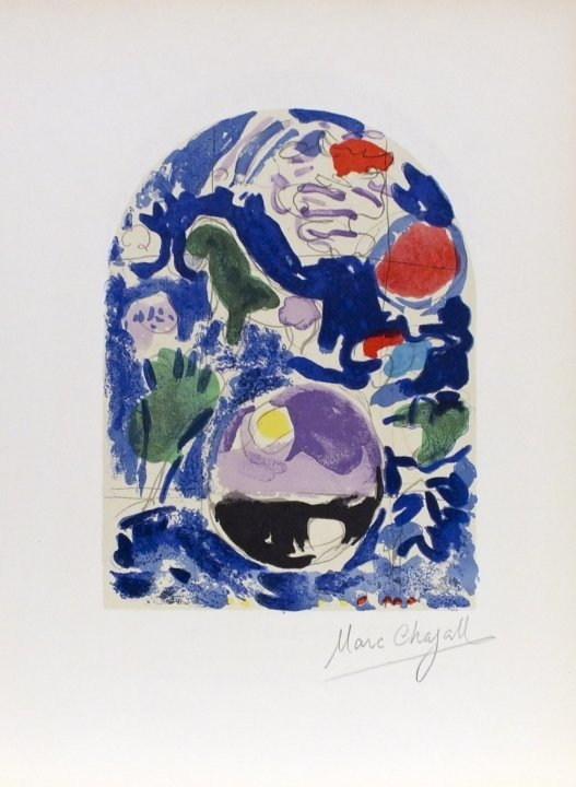 """Marc Chagall- """"Tribe of Simeon""""- Signed Lithograph"""