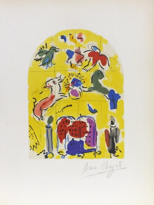 """Marc Chagall- """"Tribe of Levi""""- Signed Lithograph"""