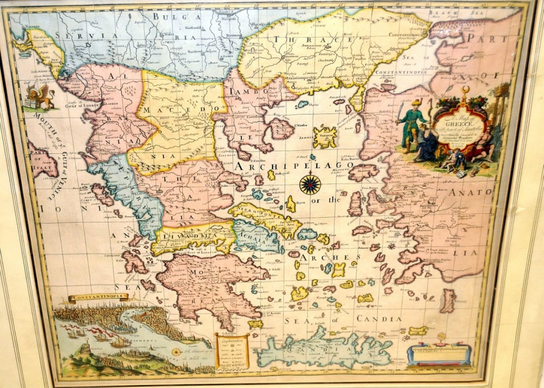 Map of Greece 1721 by John Senex of London