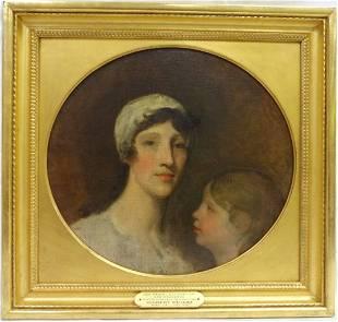 Gilbert Stuart/Mrs. Samuel Blodget, Jr. & Daughter