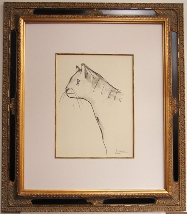 "Pablo Picasso- ""Cat""- Signed 1957 Lithograph"