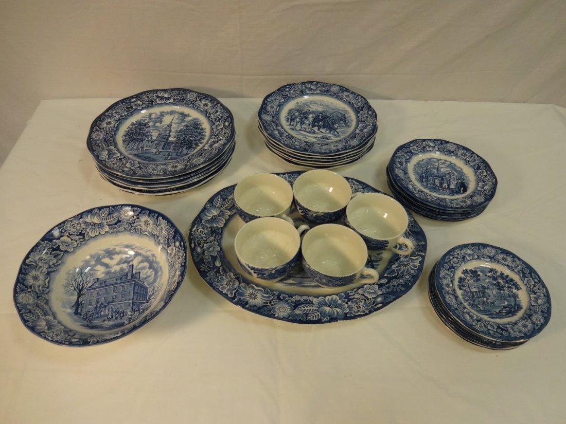 Liberty Blue Staffordshire Ironstone Dinnerware