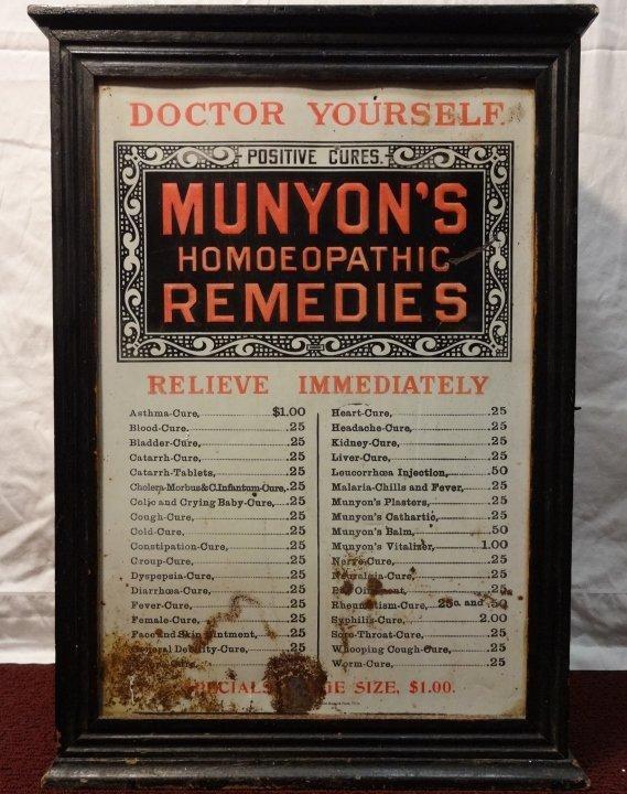 "Vintage Wood Medicine Chest/Dispensary ""Munyon's"" - 2"