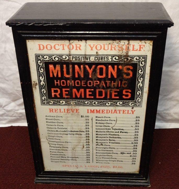 "Vintage Wood Medicine Chest/Dispensary ""Munyon's"" - 4"