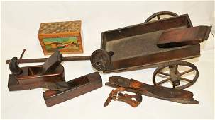 Group of 7 Antique Wooden Pieces