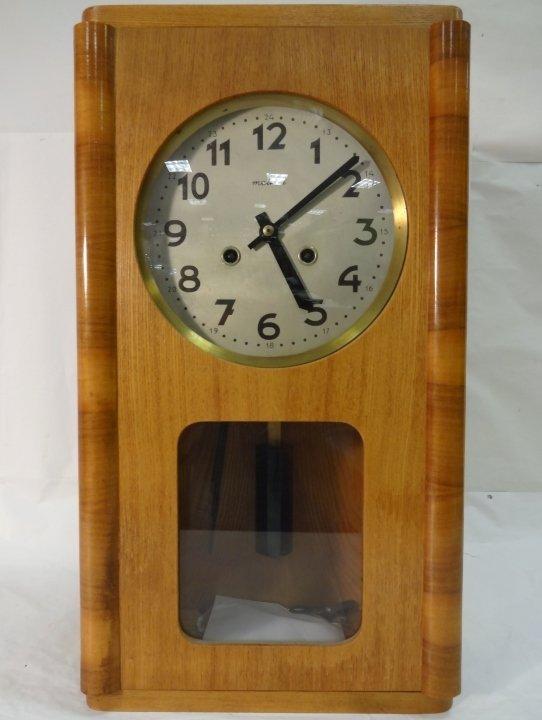 Art Deco Polish Metron Wall Clock- Running