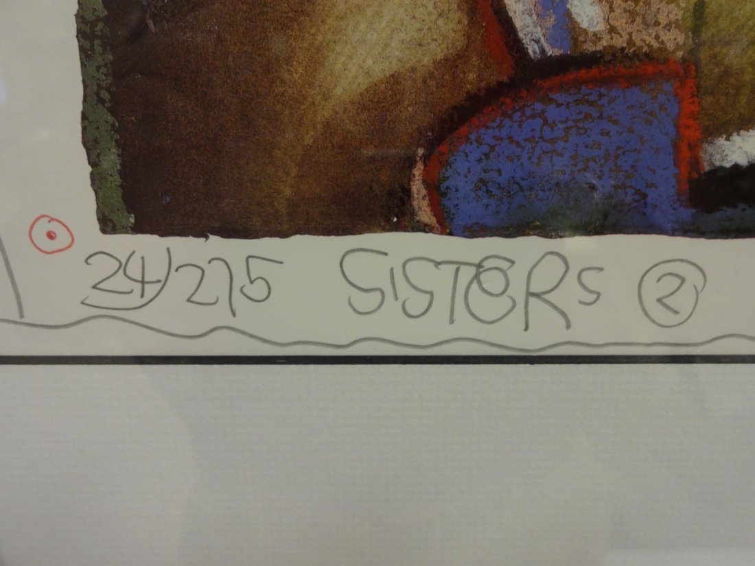 """Long Looi Lee/""""Sisters II""""/Signed & #d Lithograph - 2"""