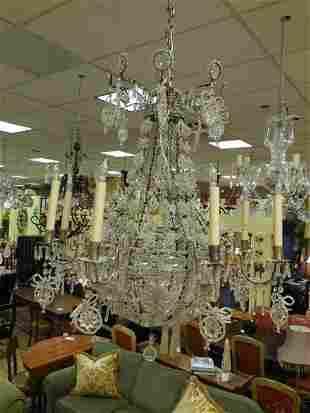 16-Light Steuben Glass Crystal Chandelier