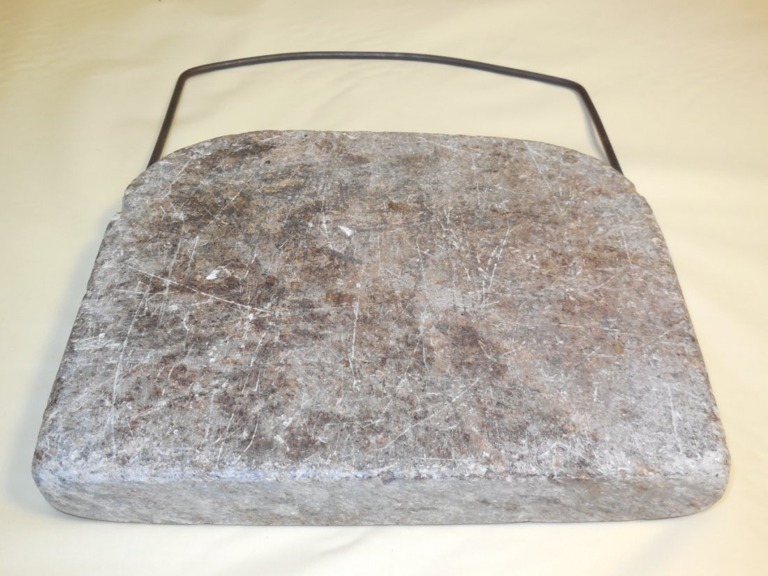Colonial Soapstone Bedwarmer with Handle - 2