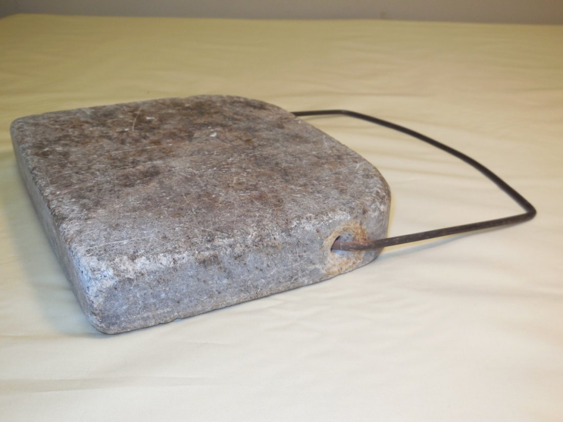 Colonial Soapstone Bedwarmer with Handle - 3