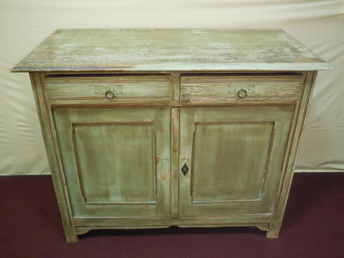 Vintage Painted Cabinet w/Drawers