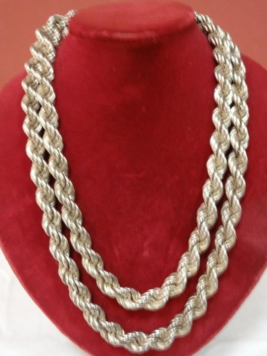 Sterling Silver Rope-Style Necklace