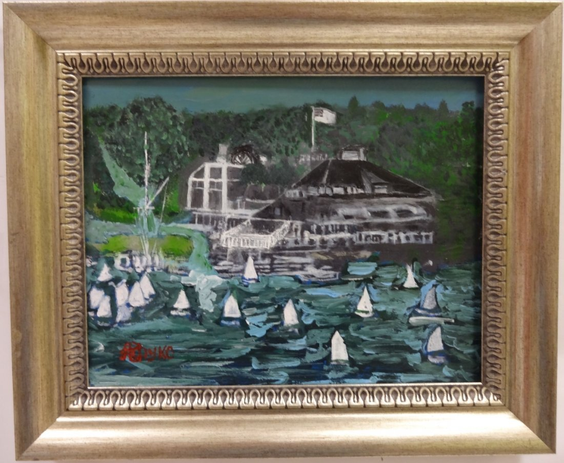 Belle Haven Yacht Club (CT) Acrylic/Canvas-Kopyko