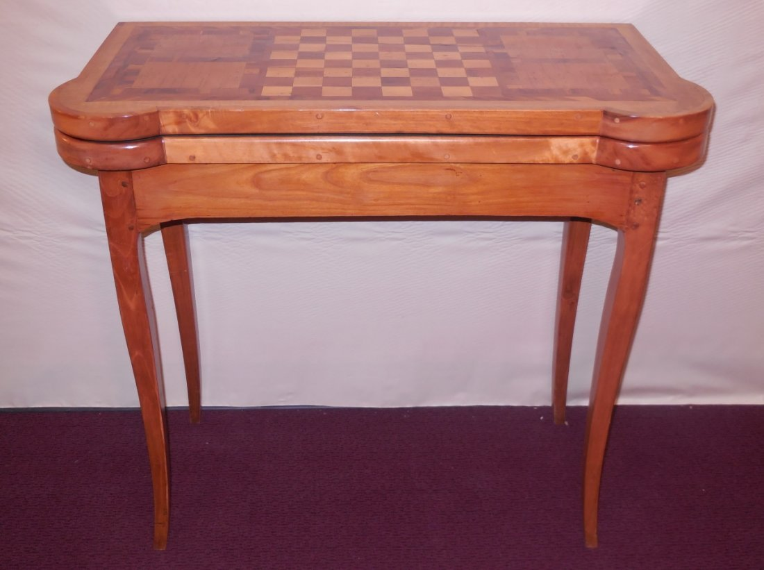 Louis 16th French Marquetry Game Table C. 1780