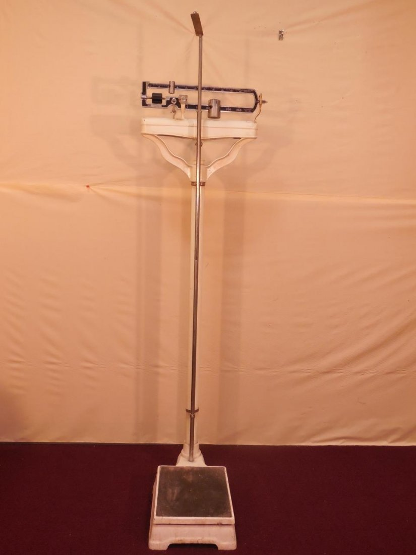 Vintage Continental Scale Works Medical Scale