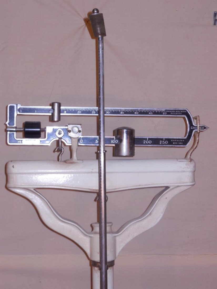 Vintage Continental Scale Works Medical Scale - 3