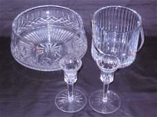 Lot of 4 Cut Crystal Pieces Inc. Waterford