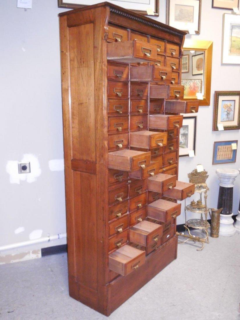 "Antique Walnut 60 Drawer ""Shannon Filing Cabinet"" - 2"