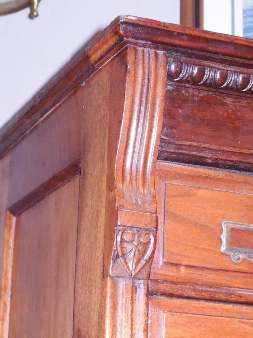 "Antique Walnut 60 Drawer ""Shannon Filing Cabinet"" - 3"