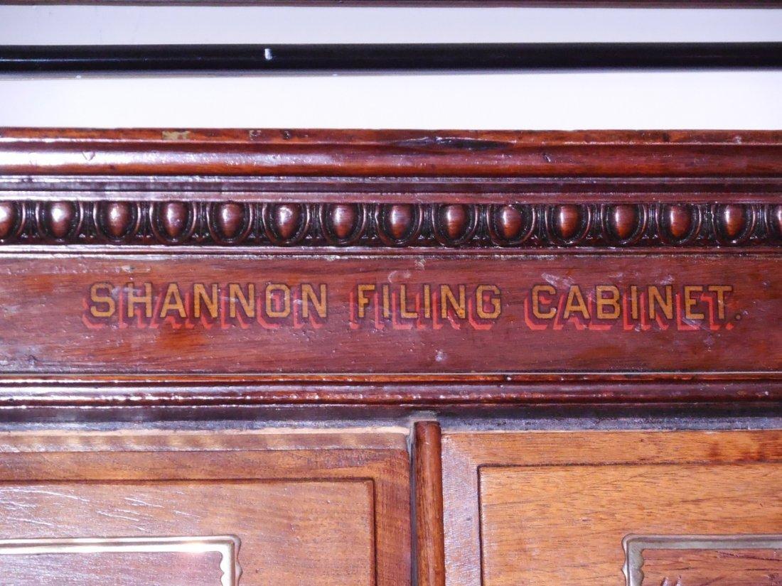 "Antique Walnut 60 Drawer ""Shannon Filing Cabinet"" - 4"