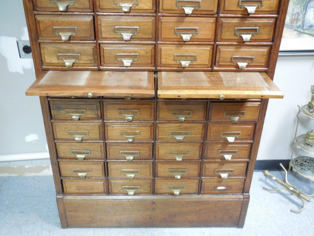 "Antique Walnut 60 Drawer ""Shannon Filing Cabinet"" - 5"