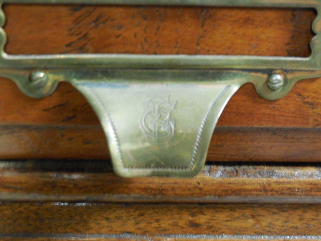 "Antique Walnut 60 Drawer ""Shannon Filing Cabinet"" - 6"
