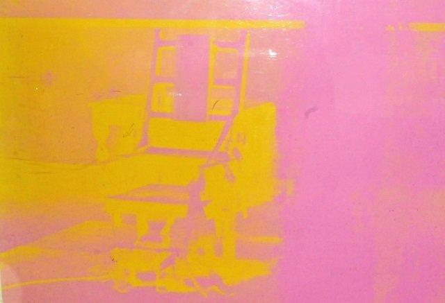 36x48 WARHOL Electric Chair Screenprint Framed - 2