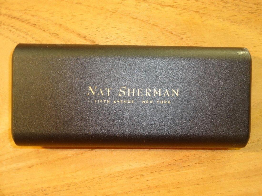 Nat Sherman Mahogany Diamond Crown Humidor - 4