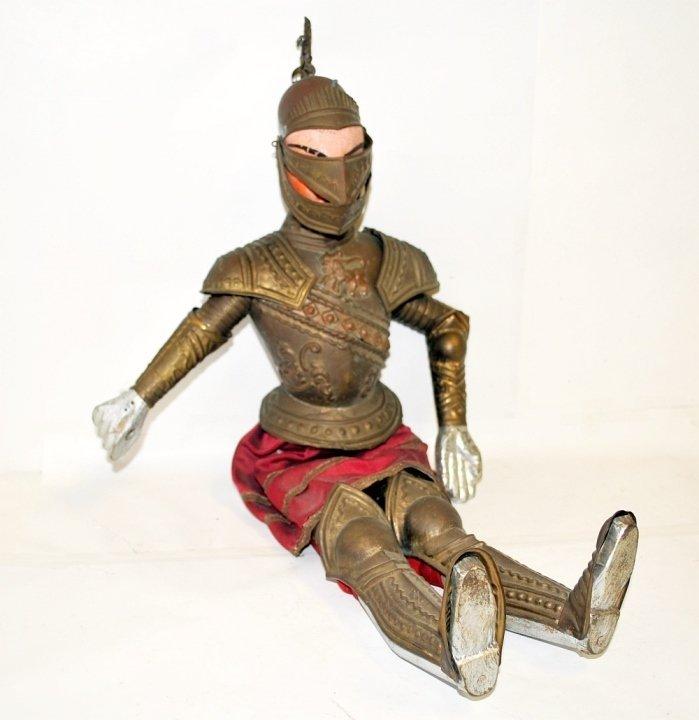 Antique Italian Marionette Knight in Armor Antique