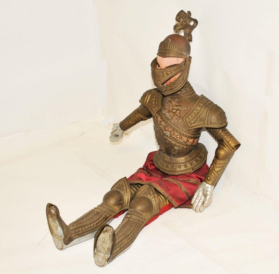 Antique Italian Marionette Knight in Armor Antique - 2