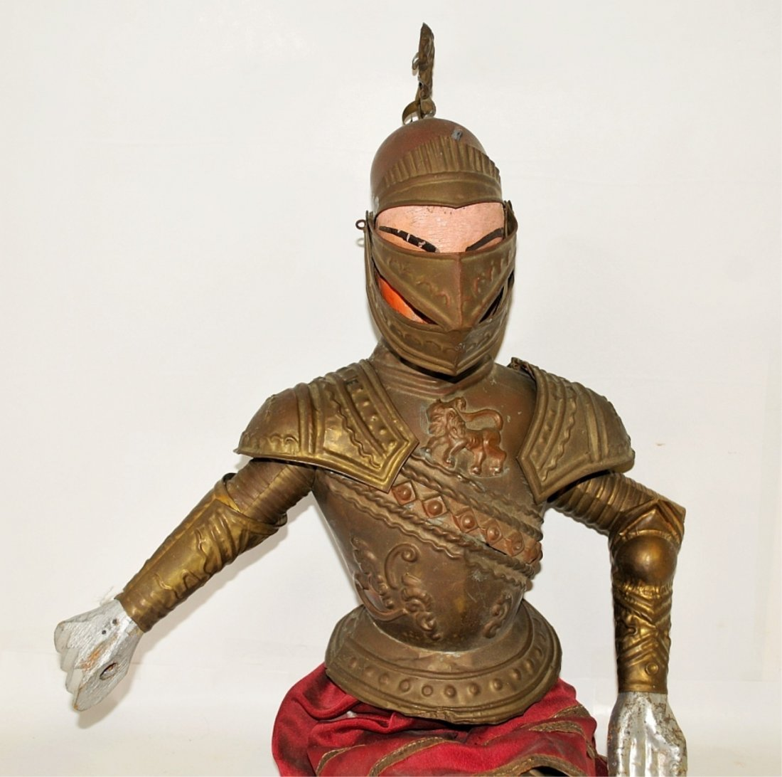 Antique Italian Marionette Knight in Armor Antique - 3