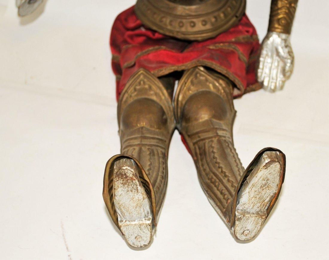 Antique Italian Marionette Knight in Armor Antique - 4