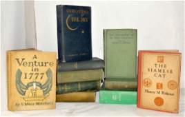 Lot of TEN Hardcover Books Illustrated  1st Ed
